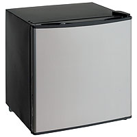 1.4 Cu. Ft. Dual Function Refrigerator or Freezer - Black Cabinet and Solid Platinum Finish Door