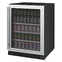 Allavino Flexcount Series 24 Wide Beverage Center Black Cabinet