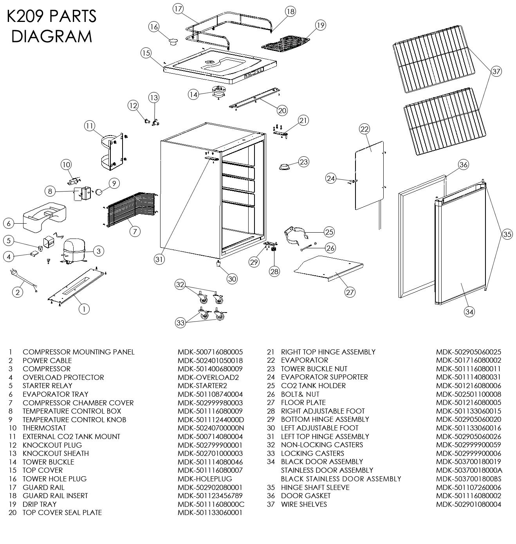 33 Danby Kegerator Parts Diagram