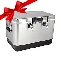 Kegco 50 Liter Dual Tap Stainless Steel Jockey Box
