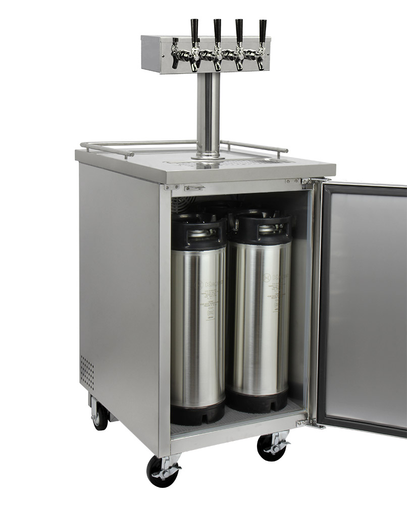 Kegco Hbk1xs 4 Four Faucet Home Brew Commercial Kegerator