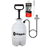 Deluxe Hand Pump Pressurized Keg Beer Kegerator Cleaning Kit w/ 32 oz. Cleaner