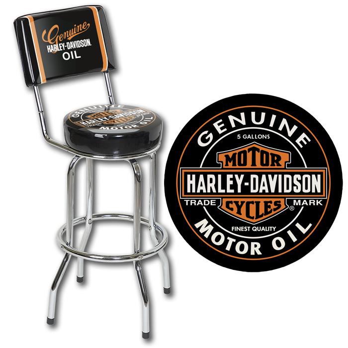 Harley Davidson Hdl 12203 Oil Can Barstool Beveragefactory Com