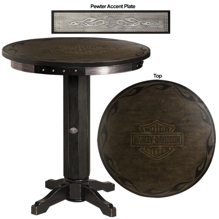 Bar U0026 Shield Flames Pub Table   Vintage Black