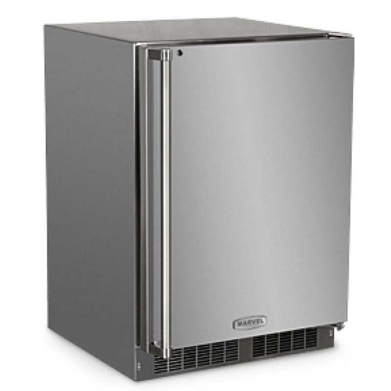 """Stainless Steel Outdoor Kitchen Cabinet Doors: Marvel 24"""" Outdoor Refrigerator"""