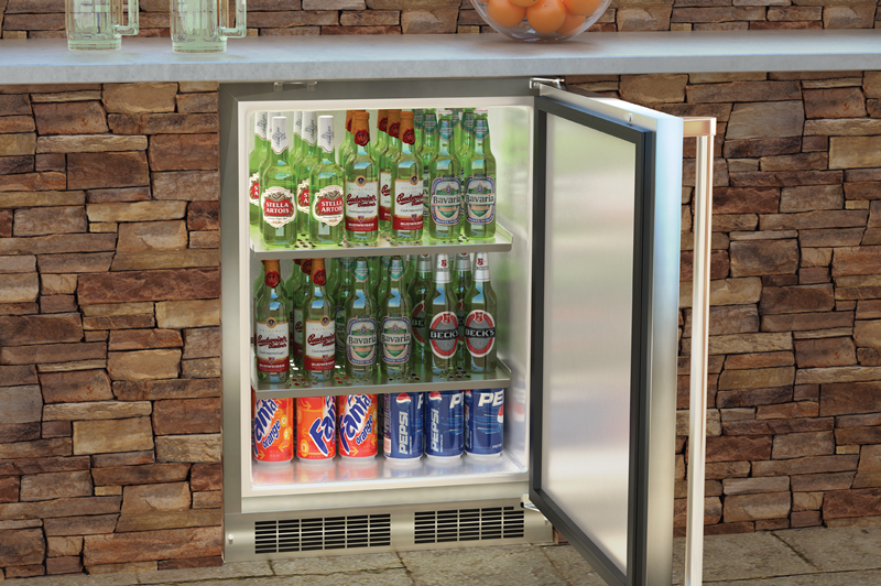 24 Outdoor Refrigerator Stainless Steel Cabinet And Solid Stainless Steel Door W Lock
