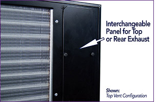 Interchangeable Panel for Top or Rear Exhaust