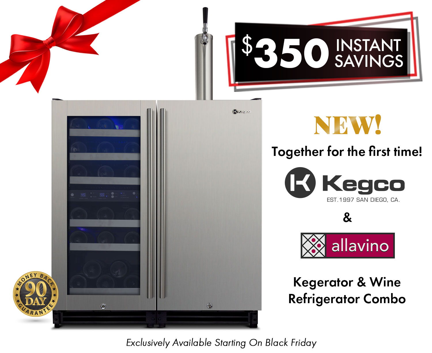 Kegerator and Wine Refrigerator