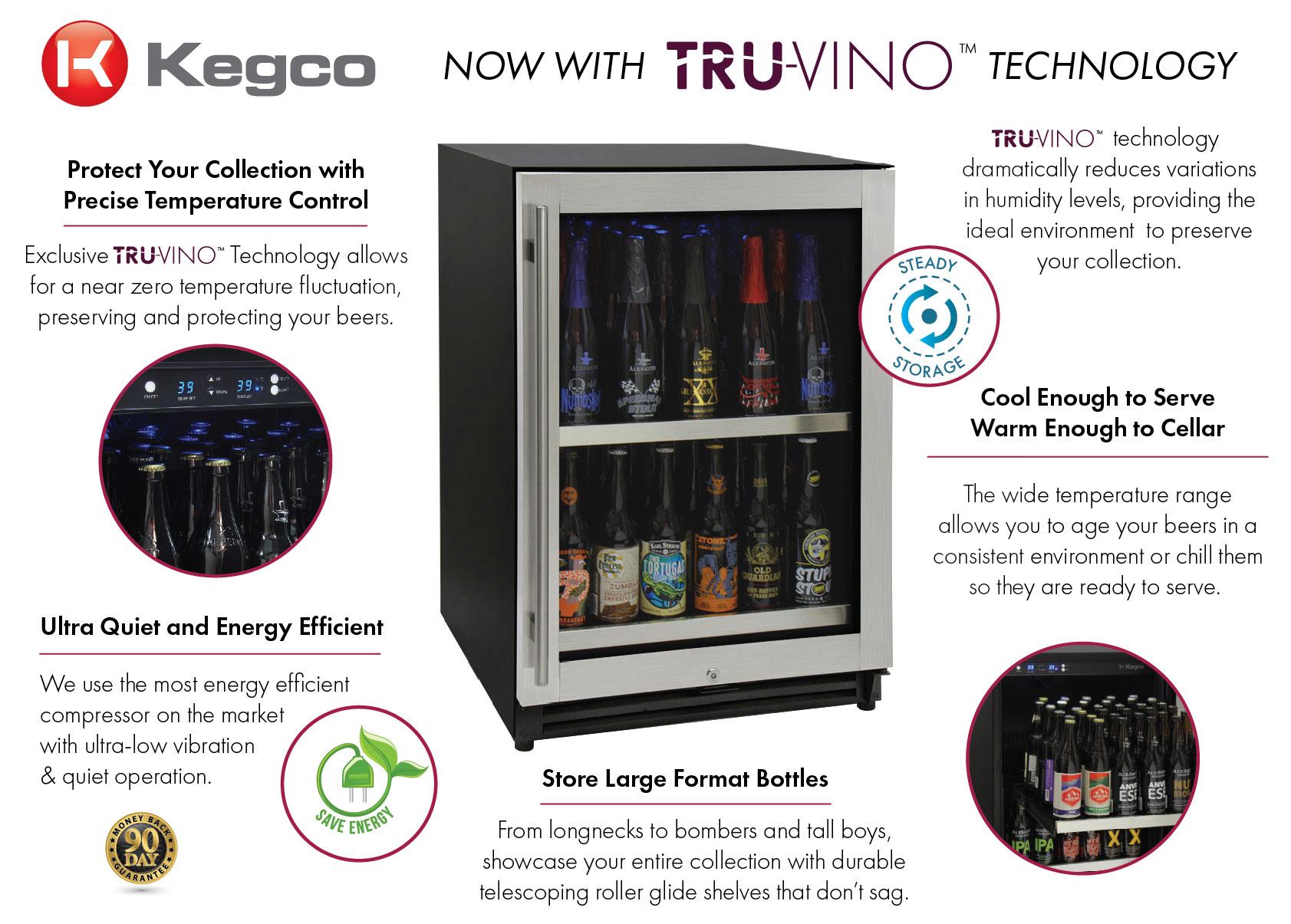 Kegco VSCB-24SR20 Craft Beer Refrigerator Features