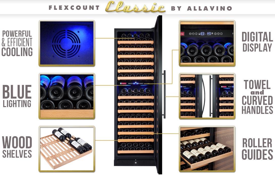 Allavino YHWR172-2BWLN Wine Refrigerator Features