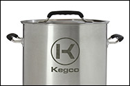 6 Gallon Stainless Steel Brew Kettle with Lid