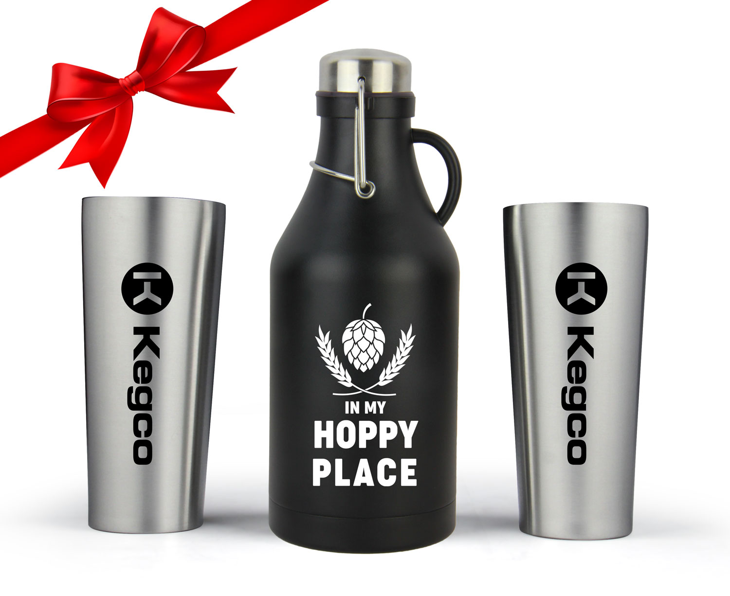 Growler and glasses stocking stuffer