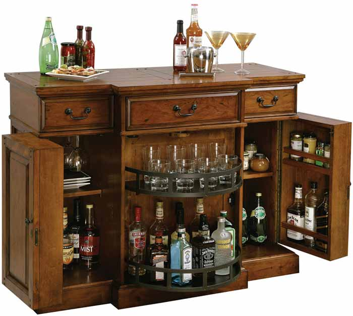 Shiraz Hide A Bar Wine Console