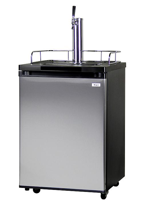 kegco k209ss 1 full size single faucet draft beer dispensers black