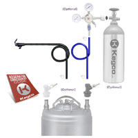 Standard Single Faucet Party Homebrew Kegerator Conversion Kit