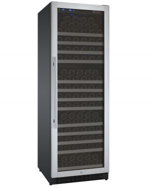Photo of 24 inch Wide FlexCount Series 177 Bottle Single Zone Stainless Steel Right Hinge Wine Refrigerator