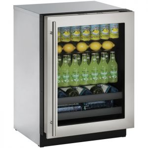 Photo of 3000 Series 24 inch Beverage Center - Stainless Steel Trimmed Glass Door