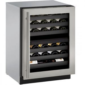 Photo of 24 inch Wide 3000 Series 43 Bottle Dual Zone Stainless Steel Wine Refrigerator