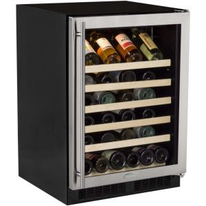 Photo of 24 inch Wide 45 Bottle Single Zone Stainless Steel Wine Refrigerator