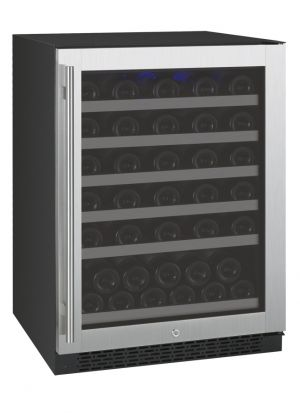Photo of 24 inch Wide FlexCount Series 56 Bottle Single Zone Stainless Steel Right Hinge Wine Refrigerator