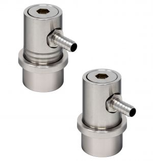 3 Photo of Stainless Steel Ball Lock Coupler Set - 1/4 inch Barb Connection