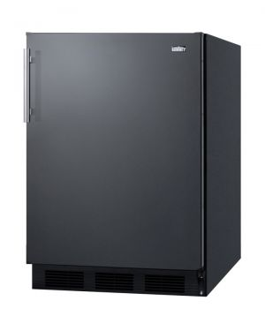 Photo of 5.1 Cu. Ft. ADA Compliant Compact Freestanding Refrigerator/Freezer - Black Door