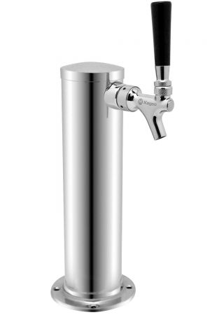 3 Photo of Single Faucet Stainless Steel Draft Beer Tower 3 inch Diameter - 100% Stainless Steel Contact