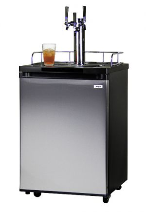 Photo of 24 inch Wide Kombucha Triple Tap Stainless Steel Kegerator
