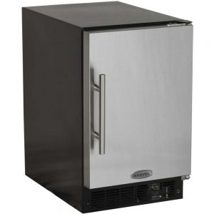 Photo of 15 inch ADA Crescent Ice Machine - Black Cabinet and Solid Stainless Steel Door