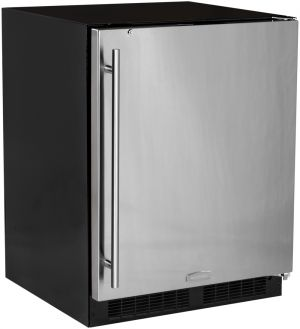 Photo of 24 inch ADA All-Refrigerator - Black Cabinet and Solid Stainless Steel Door w/ Lock