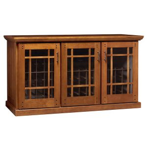 Photo of Mission Credenza 180-Bottle Wine Cellar - Provincial Cherry Finish