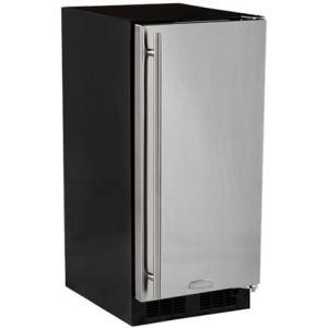 Photo of Built-In All Refrigerator - Black Cabinet and Solid Stainless Steel Door w/ Left Hinge