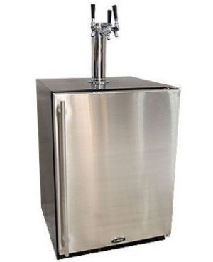 Photo of 24 inch Wide Triple Tap Stainless Steel Built-In Kegerator with Kit