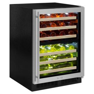 Photo of 24 inch Wide 44 Bottle Dual Zone Stainless Steel Right Hinge Wine Refrigerator