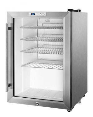 Photo of 2.5 Cu. Ft. Capacity Commercial Beverage Cooler - Stainless Steel Exterior