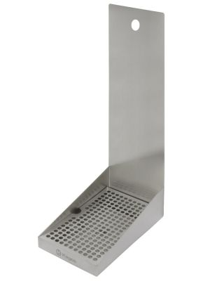 3 Photo of 6 inch Wide S/S Drip Tray with Drain - 1 Shank Hole