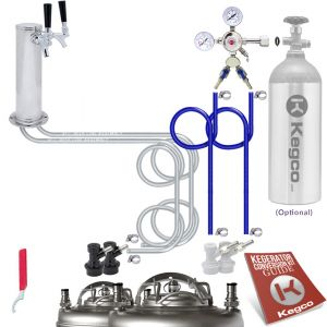 Photo of Standard Homebrew Dual Tap Faucet Draft Tower Conversion Kit