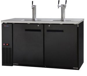 Photo of 61 inch Wide Triple Tap Black Commercial Kegerator