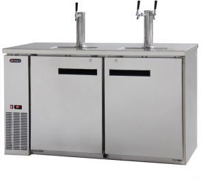 Photo of 61 inch Wide Triple Tap Stainless Steel Commercial Kegerator