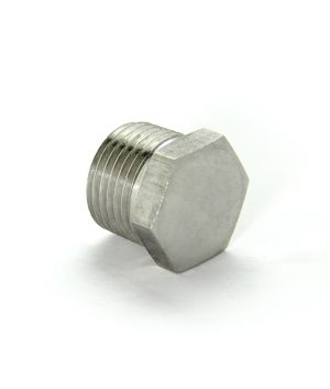 3 Photo of 1/2 inch MPT Hex Head Plug - Stainless Steel