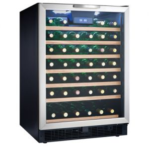 Photo of 24 inch Wide 50 Bottle Single Zone Stainless Steel Built-In Wine Refrigerator