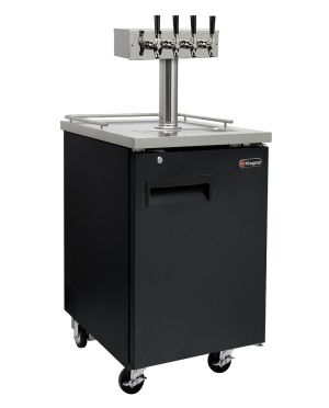 Photo of 24 inch Wide Kombucha Four Tap Black Commercial Kegerator