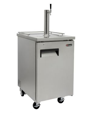 Photo of 24 inch Wide Single Tap All Stainless Steel Commercial Kegerator