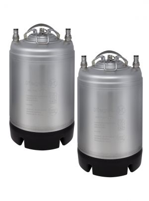 Photo of 2.5 Gallon Ball Lock Keg - Strap Handle - NSF Approved - Set of 2