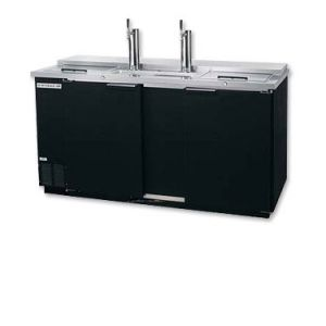 Photo of 69 inch Wide Triple Tap Black Commercial Kegerator