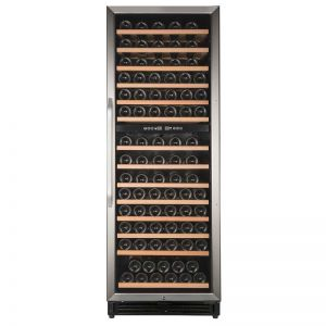 Photo of 24 inch Wide 148 Bottle Dual Zone Stainless Steel Wine Refrigerator
