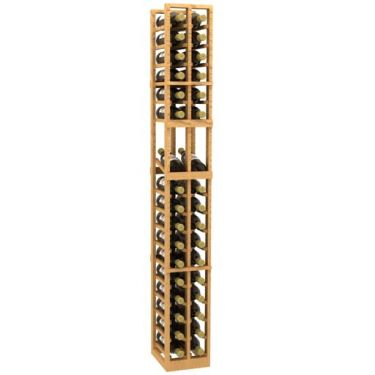 2 Column Display Wood Wine Rack