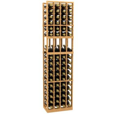 4 Column Display Wood Wine Rack