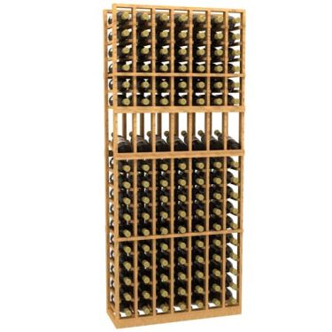 7 Column Display Wood Wine Rack