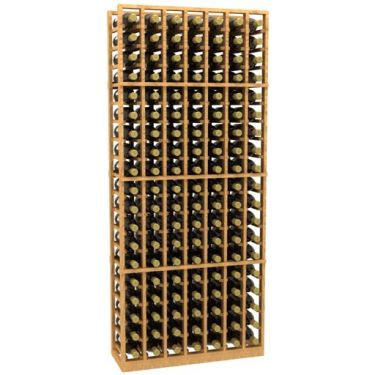 7 Column Wood Wine Rack